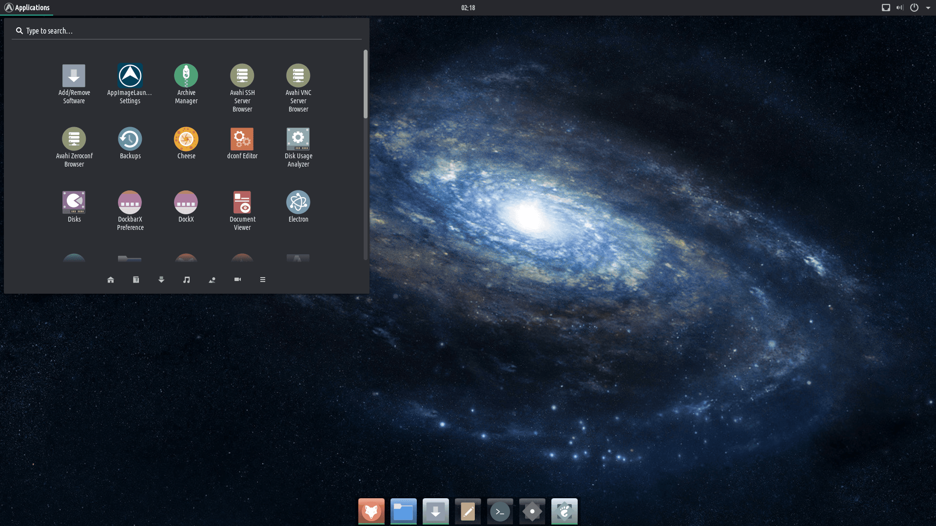 tromjaro ubuntu elementară OS
