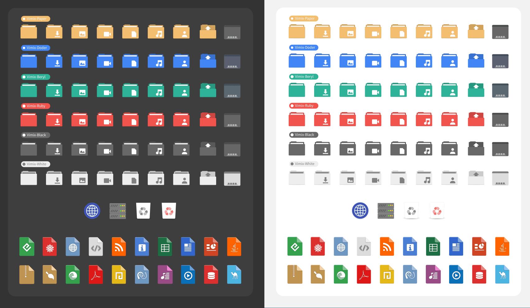 vimix icons